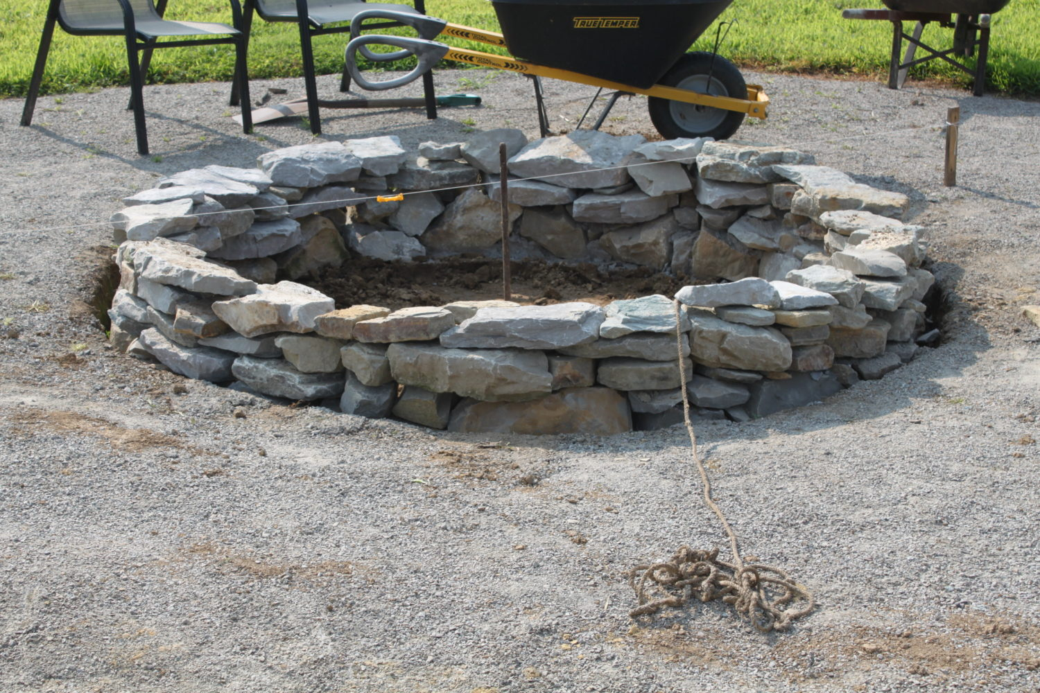 How to create a beautiful inexpensive backyard fire pit for What rocks to use for fire pit